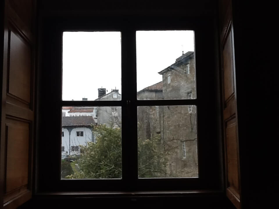 The view from a monk's bedroom window